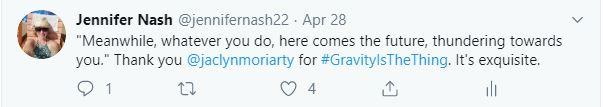 Jaclyn Moriarty tweet